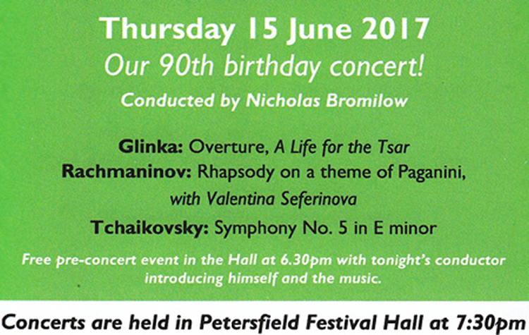 Petersfield Orchestra 15 June 2017